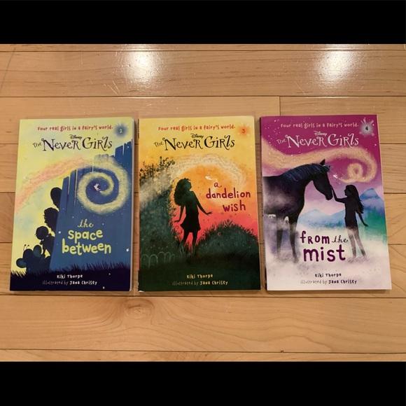 Set of 3 Disney The Never Girls chapter books